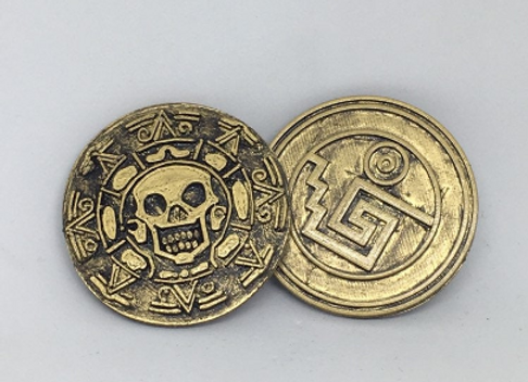 Pirates Gold Coins, 3D Printed