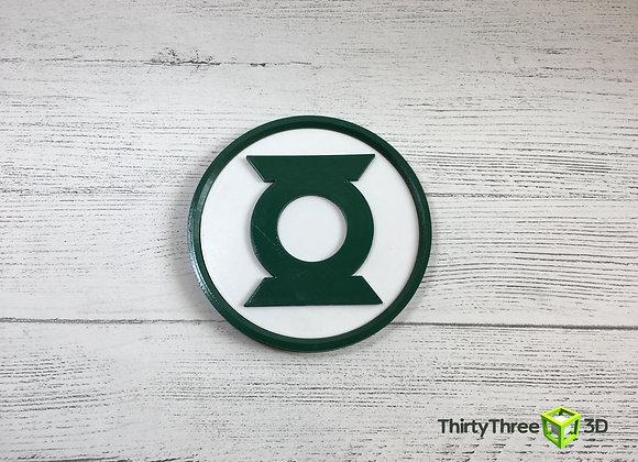 Green Lantern Emblem, 3D Printed, Unofficial