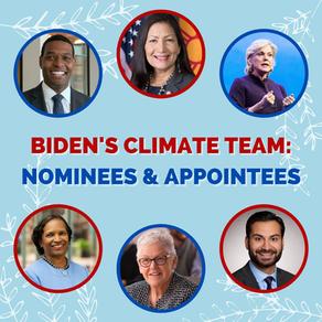 Biden's Climate Team: Nominees & Appointees