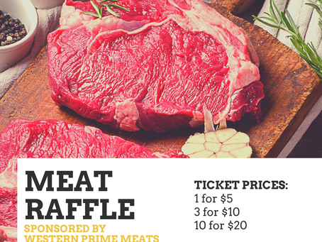 MEAT RAFFLE TICKETS ON SALE TODAY!