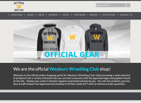 New online team shop.
