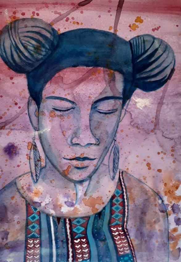 """Untitled Purple Self Portrait,"" 2019"