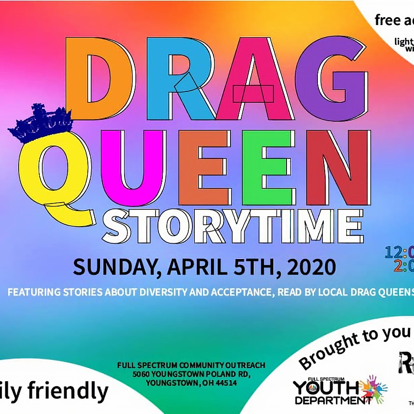 *NOW VIRTUAL* Drag Queen Story Time