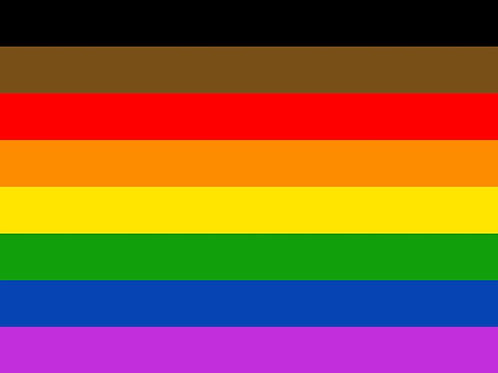 Philadelphia (P.O.C.) Pride Hand Flag
