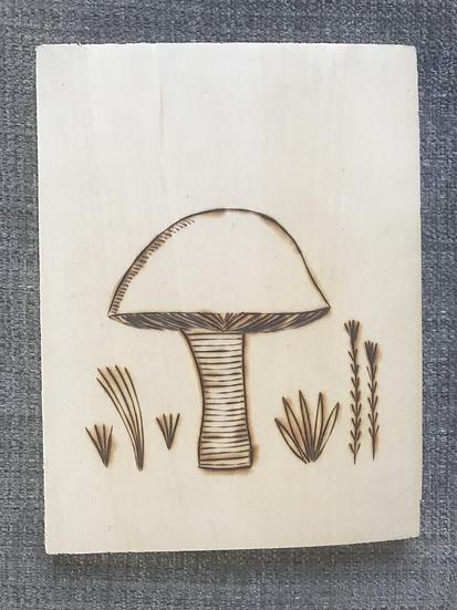 Mushroom - wood burning