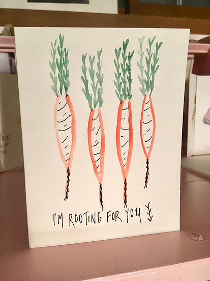 I'm rooting for you - Hand-painted Watercolor Card Set