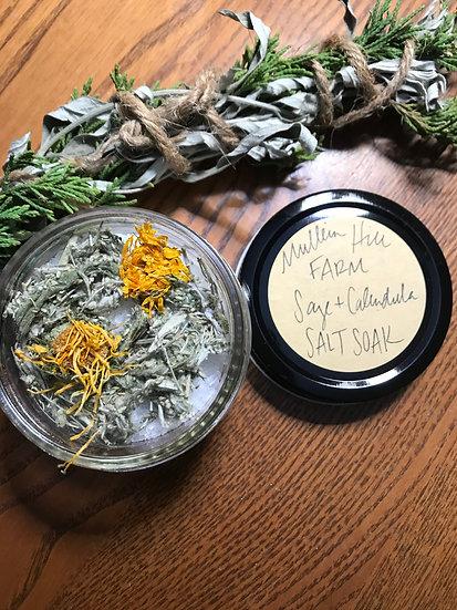 Sage + Calendula Salt Soak