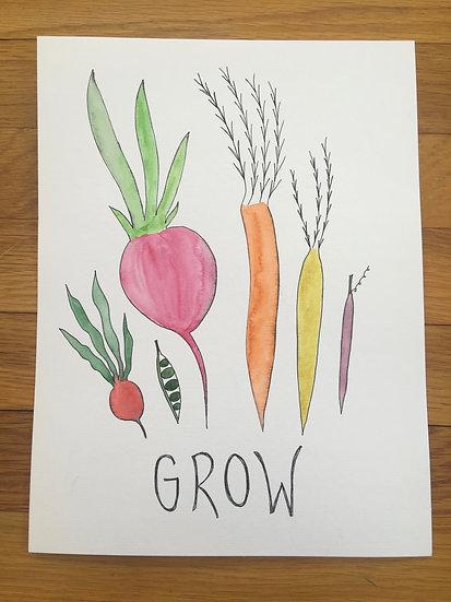 Grow - Original Watercolor