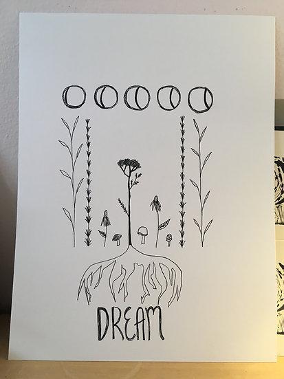 Dream - Original Ink Drawing