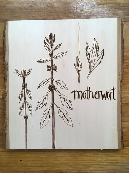 Motherwort - Wood Art