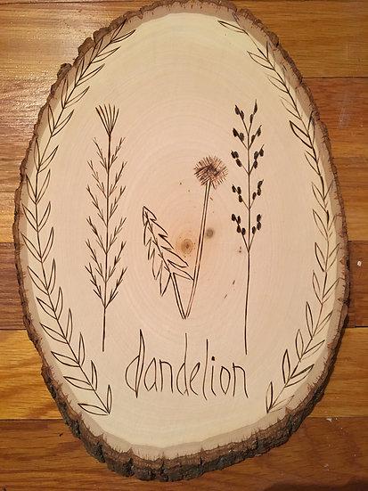 Dandelion - Wood Art