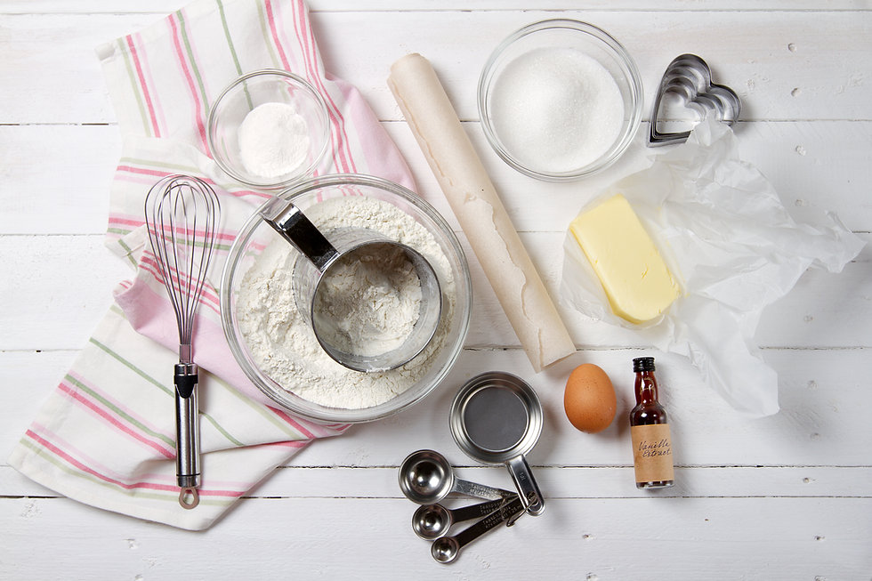 Cake decorating ingredients