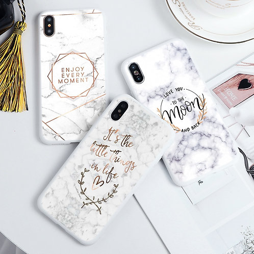 Marble Flower Soft  Cases forall iPhone sizes including  iPhone 11 Pro Max