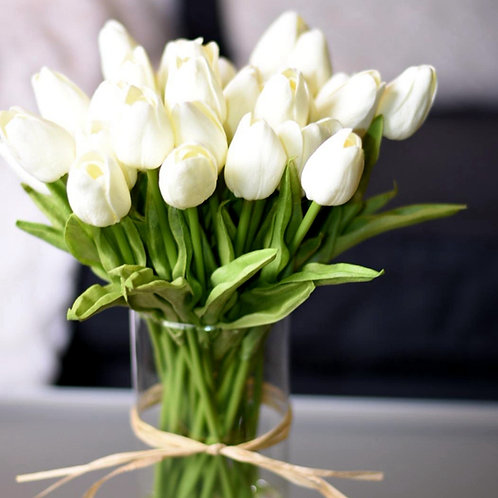 10PCS Tulip Artificial Flower Real Touch Artificial Flower for  Flowers Decor