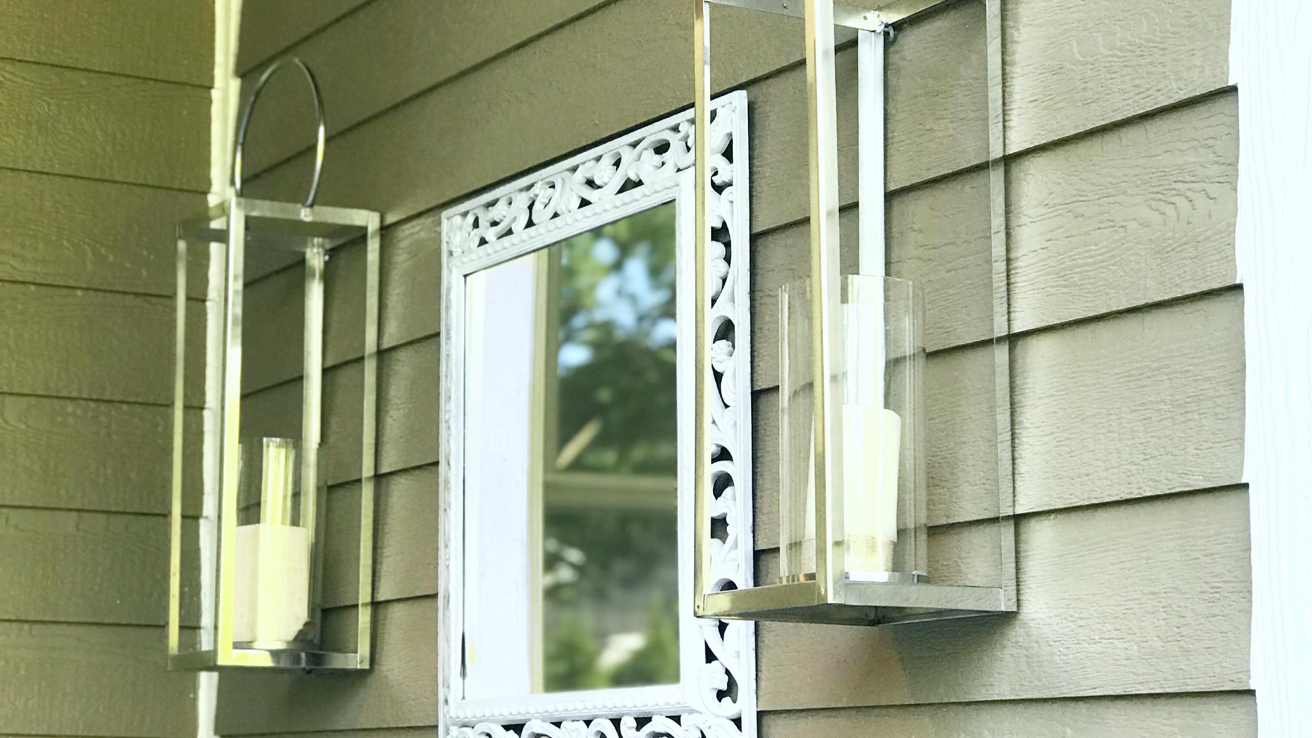 Outdoor lantern/mirror