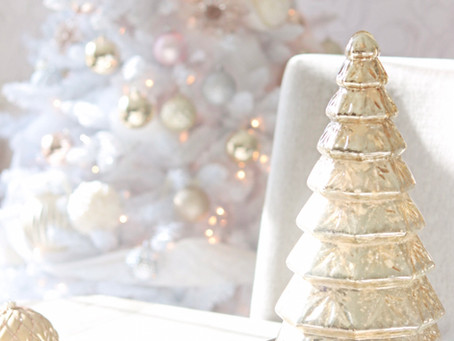 Enchanting Rose gold, blush, silver and white Christmas