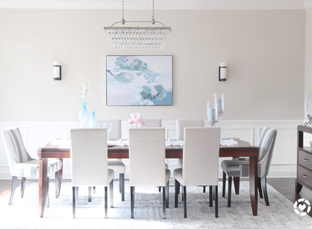 Coastal chic dining room