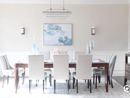 Coastal chic dining room