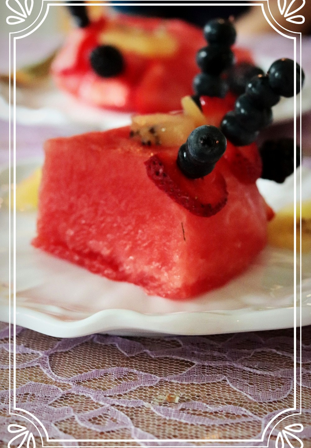 Watermelon cake slice