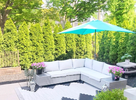 "Create a summer oasis in your ""backyard"" with these easy steps"