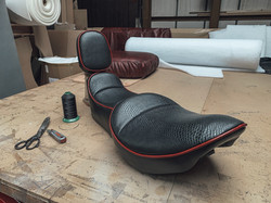 Motorcycle Seat Customised & Trimmed