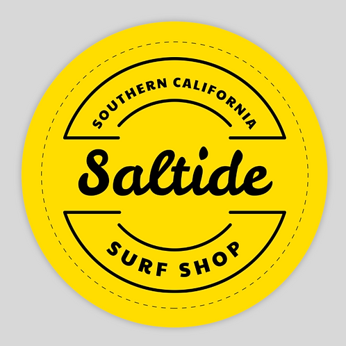 Yellow Original Saltide Sticker