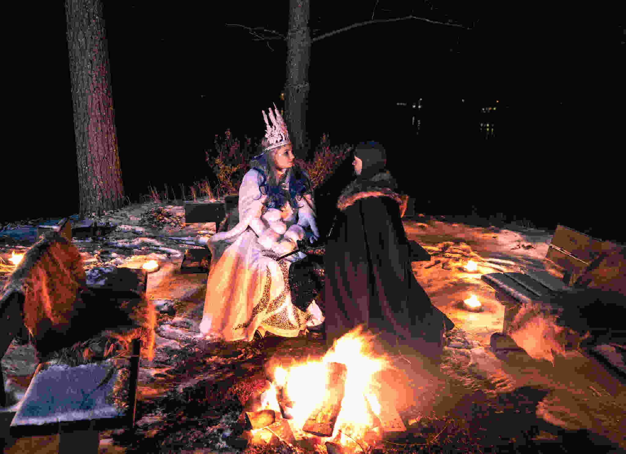 LaplandNews - Guardian of Aurora Island & His Ice Queen - Rovaniemi - Lappi - Suomi