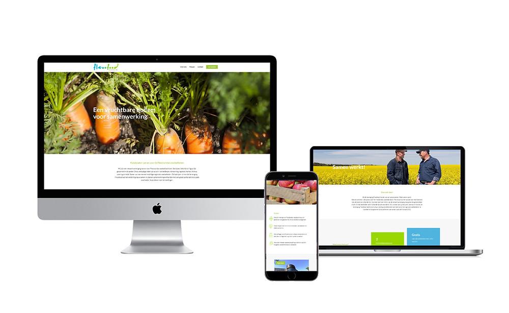 website ontwerp vereniging Flevofood
