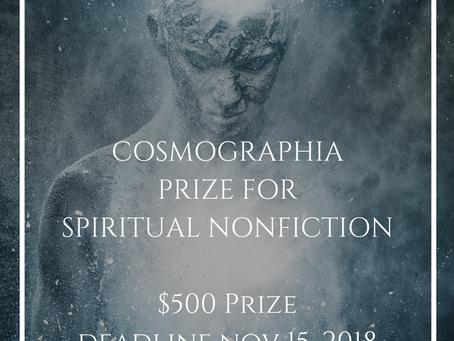 New Contest: The Cosmographia Prize for Spiritual Nonfiction