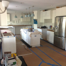 Flooring in and protected