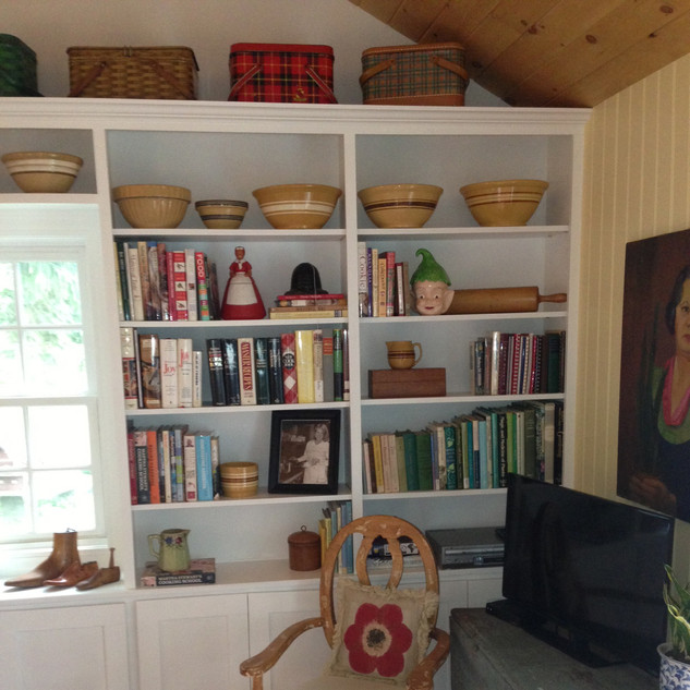 Bookcase with collections