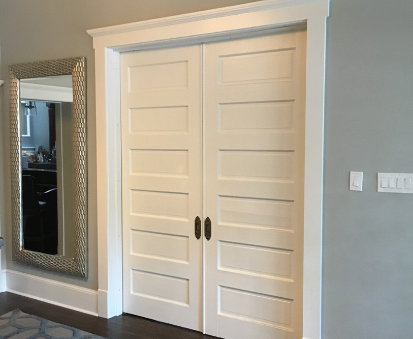 Closed doors from Entry Hall