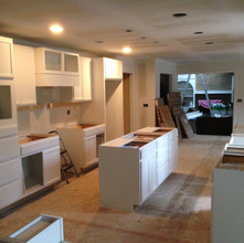 Cabinets in place