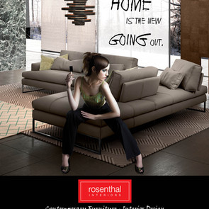 Photo Manipulation - Magazine Ad - Rosenthal Interiors, Minneapolis