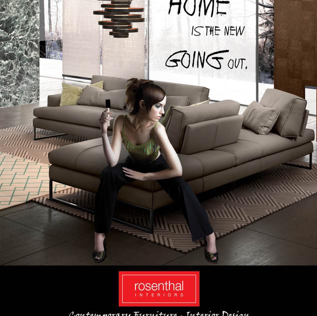 Photo Manipulation - Magazine Ad - Rosenthal Interiors, Minneapolis