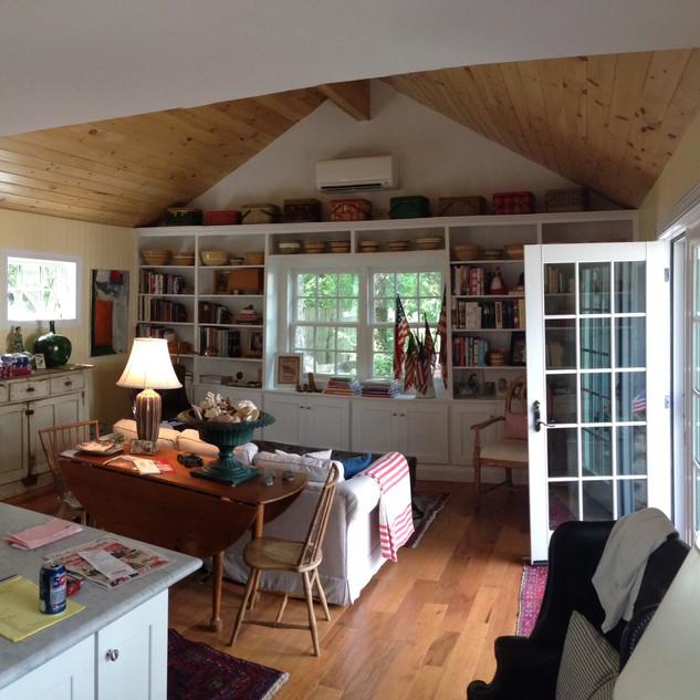 Built-in bookcase & Mini-split HVAC