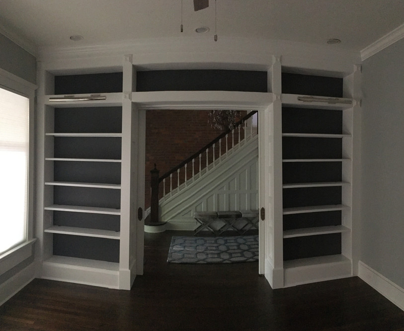 Bookcase with Doors Open