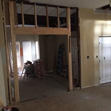 Office Doorway was Widened, Sliding Doors to be Added