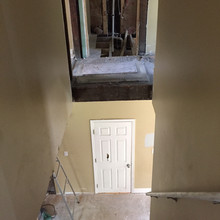 Top of New Upper Landing was Formerly a Shower