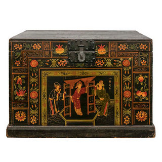 Hand-painted Asian Trunk