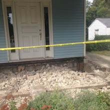 Concrete compacted below