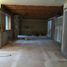 Wall between rooms removed