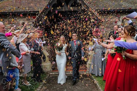 Confetti arch 🎉 #herefordshirewedding #