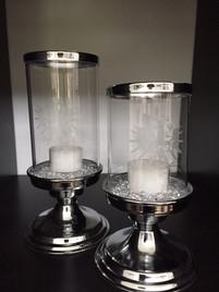 Kerzenhalter aus Glas mit Tiroler Adler graviert