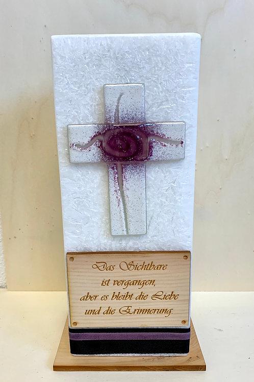 "Trauerkerze ""Kreuz"""