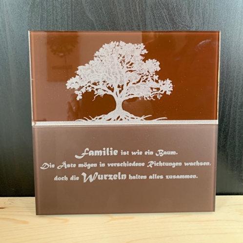 """Bild Holz-Glas """"Lebensbaum"""