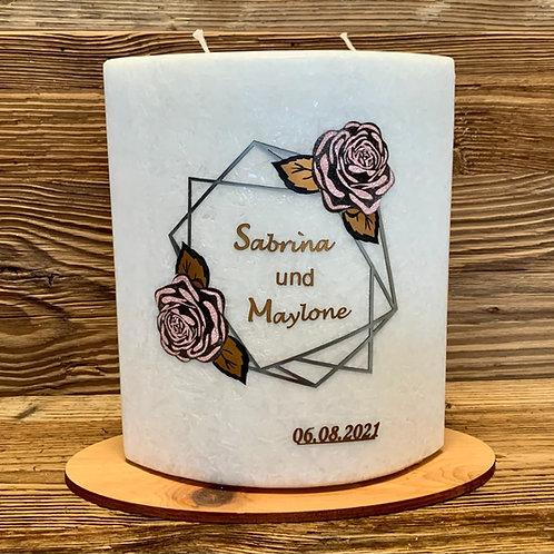 """Hochzeitskerze """"Rosen"""""""