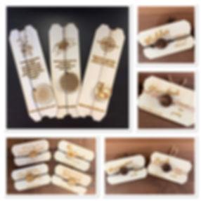 Schön zum Verschenken sind Arm- oder  Halsketten mit Sprüchetafeln