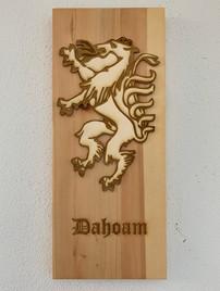 """Bild mit """"Steirischem Panther"""" graviert"""