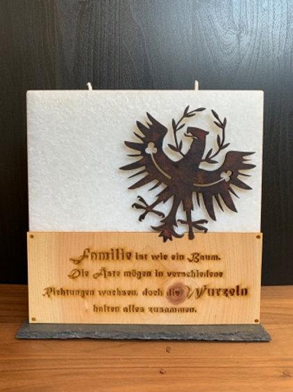 """Familienkerze """"Tiroler Adler"""""""